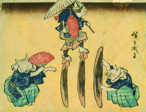 45_hiroshige_cat-crossing-to-eat