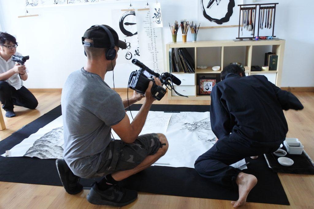 Recording for a Fuji TV program